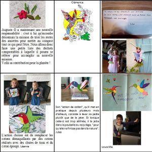 Les colibris de MS-GS et leurs actions